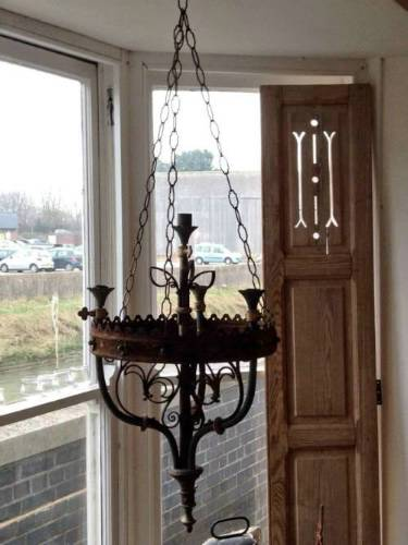 Copper & Iron Candelabra